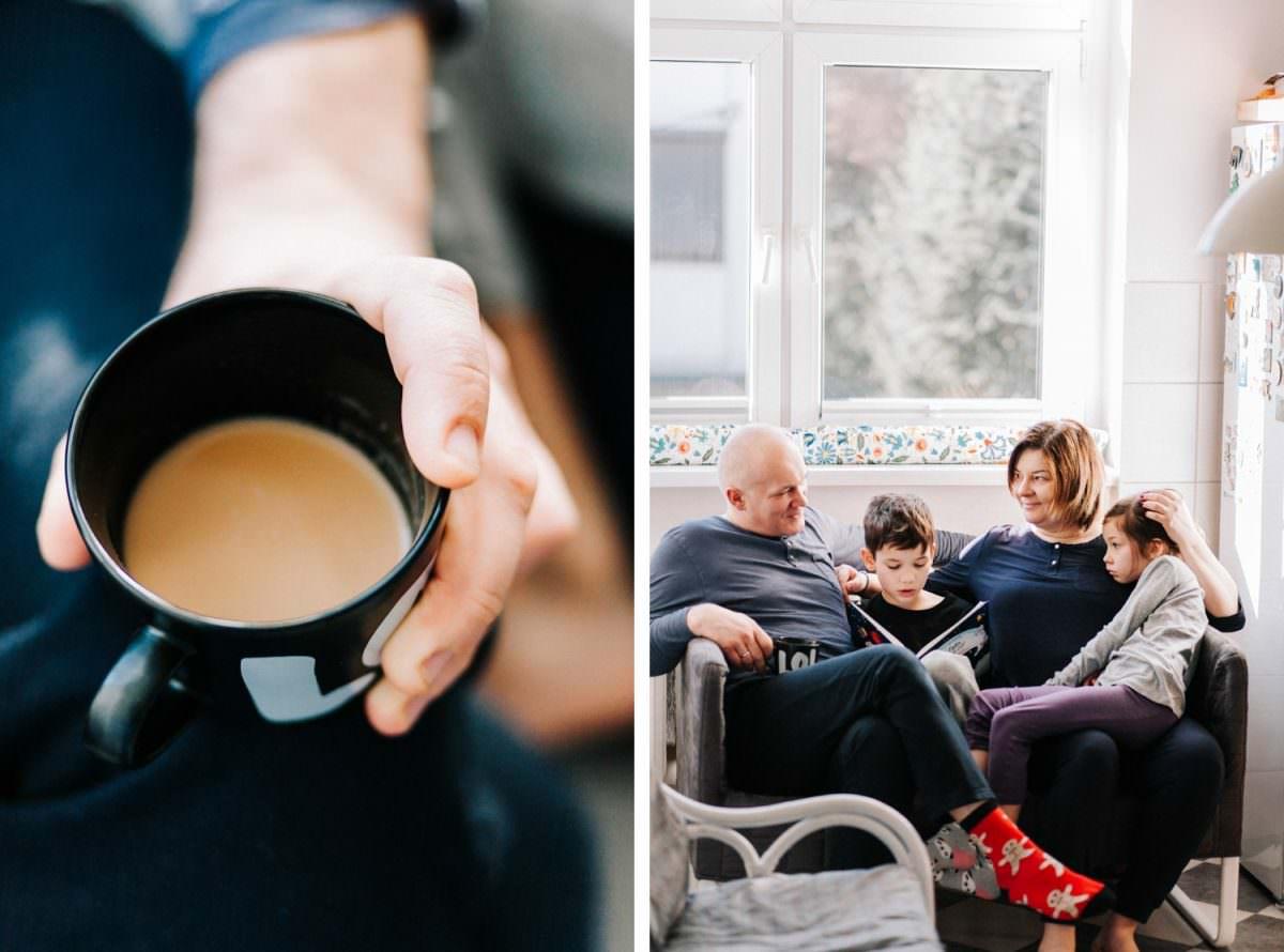 kawa w czasie rodzinnej sesji zdjęciowej w Poznaniu