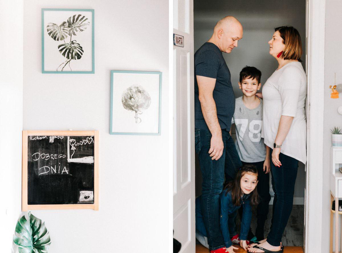 luźny rodzinny portret na sesji lifestylowej w Poznaniu