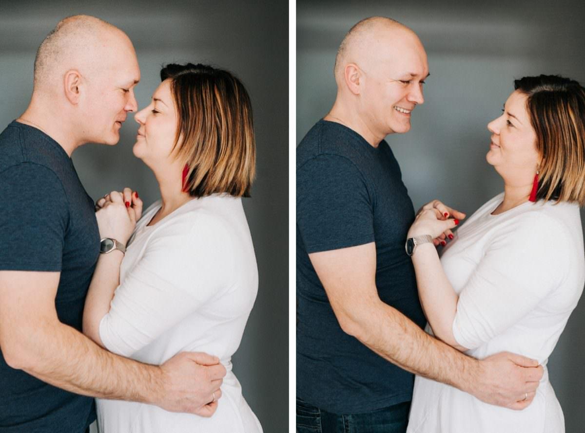rodzice na sesji rodzinnej w Poznaniu - niepozowane portrety