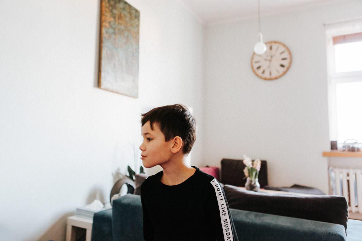 portret z sesji lifestyle Poznań